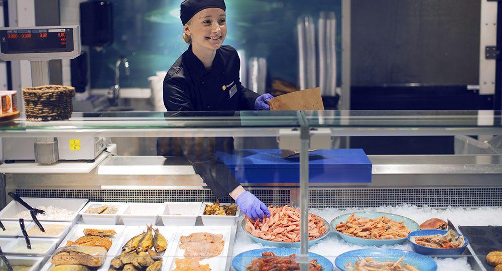 Att jobba i fisk- eller köttdisk